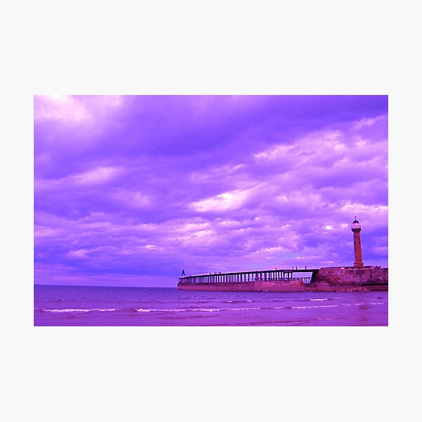 Whitby Seawall Photographic Print