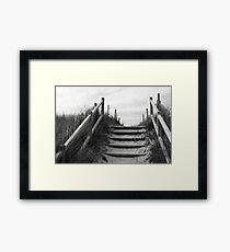 through the dune Framed Print