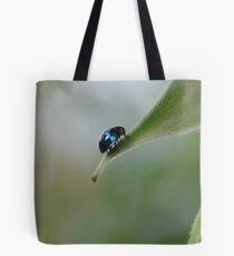 Steel Blue Ladybird Beetle Tote Bag