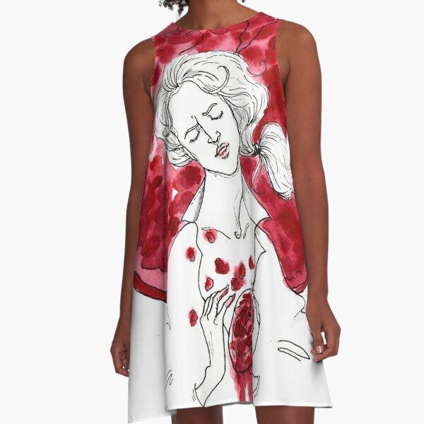 Pomegranate heart A-Line Dress