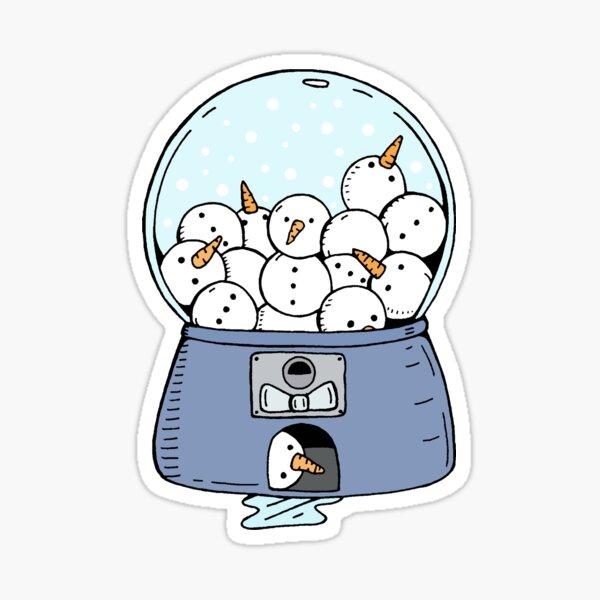 Snowman Gumball Machine Sticker