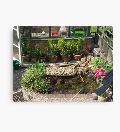 My garden Pond Canvas Print