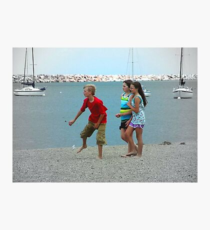 Just kids hanging at the beach ©  Photographic Print