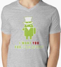 Droidarmy: Propaganda Mens V-Neck T-Shirt