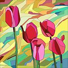 «Un ramo de tulipanes» de Margaret Stevens