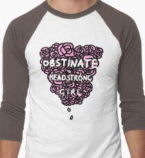 Obstinate Headstrong Girl Men's Baseball ¾ T-Shirt