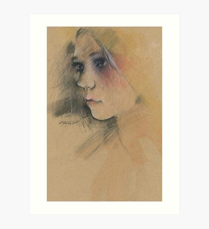 getting to know her Art Print