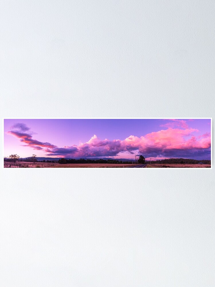 Alternate view of Evening Storm over Little Swanport Poster