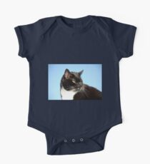 Black and white cat One Piece - Short Sleeve