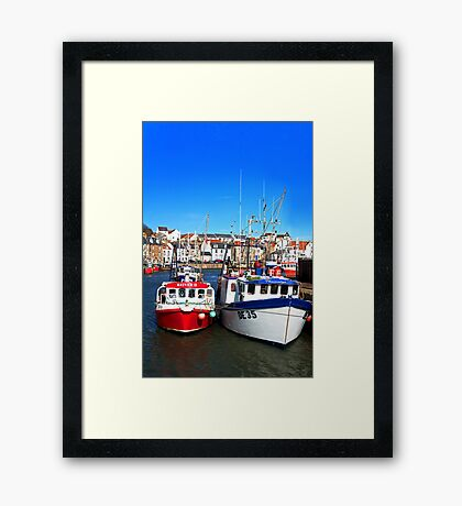 Prawn Boats in Pittenweem Harbour Framed Print