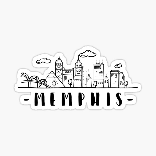 Memphis Skyline Sticker