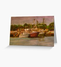 Gloucester Boats Greeting Card