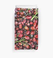 Red  Grape Duvet Duvet Cover