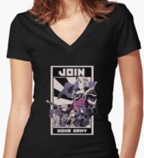 Join Nohr!  Women's Fitted V-Neck T-Shirt