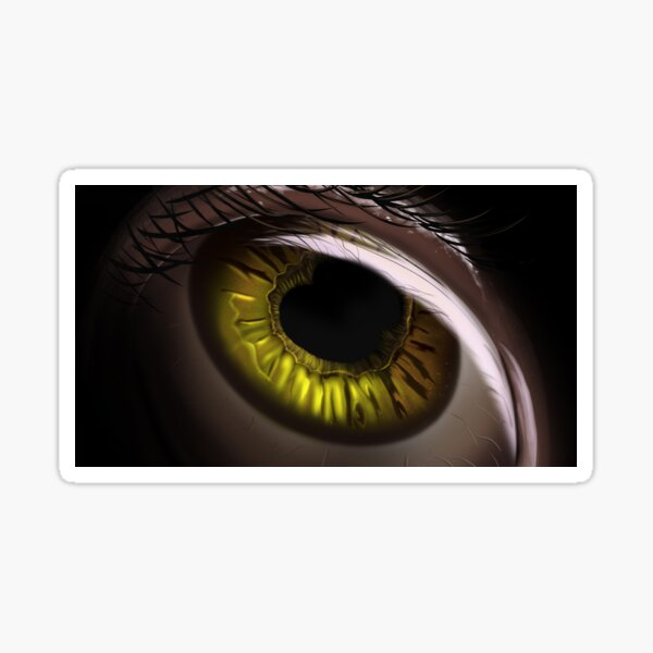Green polycoria human eye closeup Sticker