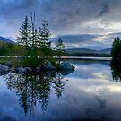 Nightfall on a Mountain Lake by J Jennelle