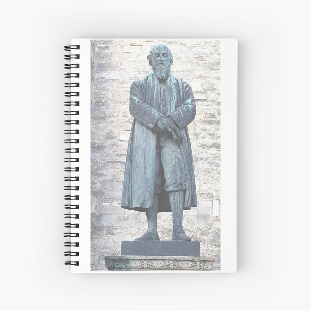 William Barnes - Poet - Statue in Dorchester Spiral Notebook