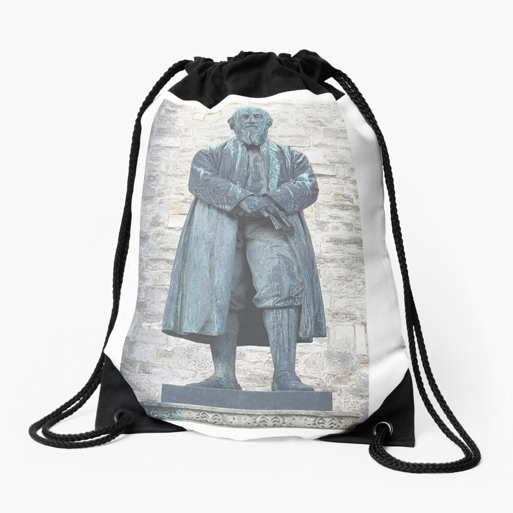 William Barnes - Poet - Statue in Dorchester Drawstring Bag