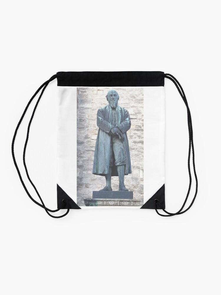 Alternate view of William Barnes - Poet - Statue in Dorchester Drawstring Bag