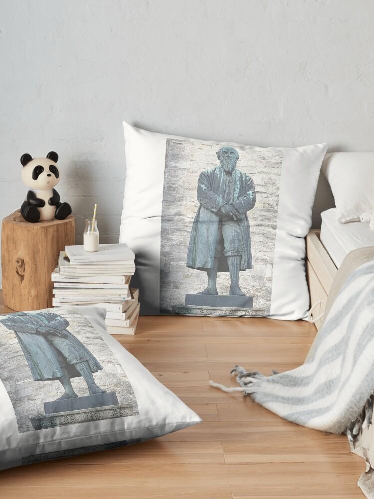 Alternate view of William Barnes - Poet - Statue in Dorchester Floor Pillow