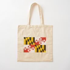 maryland state flag Cotton Tote Bag