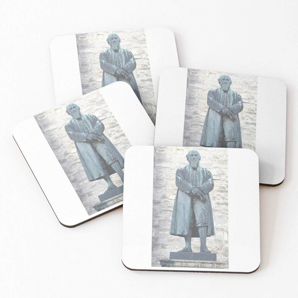 William Barnes - Poet - Statue in Dorchester Coasters (Set of 4)
