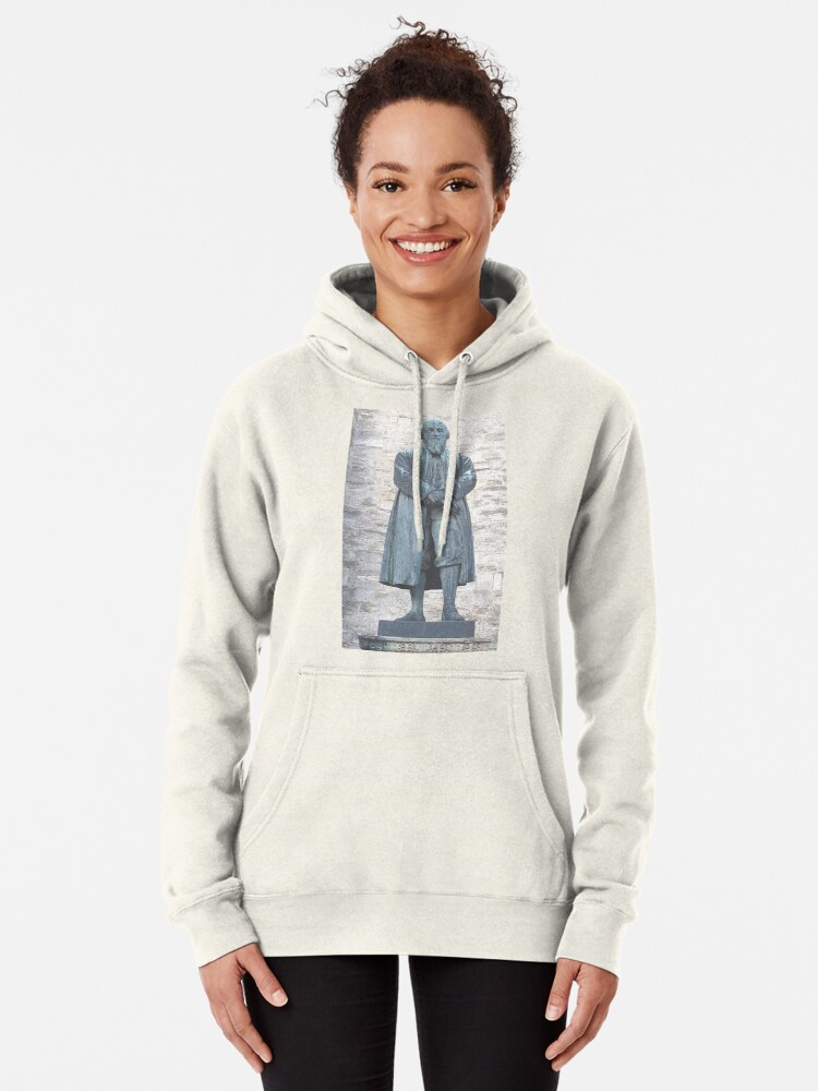 Alternate view of William Barnes - Poet - Statue in Dorchester Pullover Hoodie