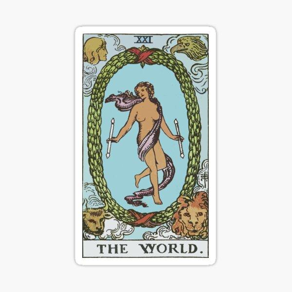 Tarot - The World Sticker