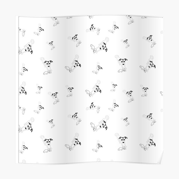 linoys puppy pattern Poster