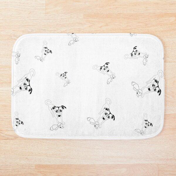 linoys puppy pattern Bath Mat