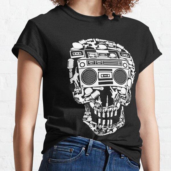 Boom Box Skull Design MENS T SHIRT retro skeleton music party hip hop rap cool