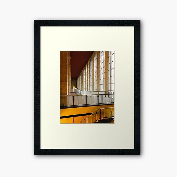 Corridor at Tempelhof Airport, Berlin Framed Art Print