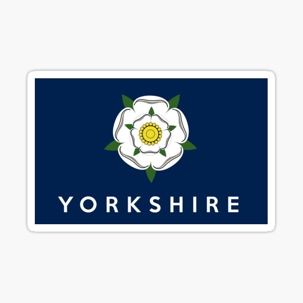 yorkshire flag Sticker