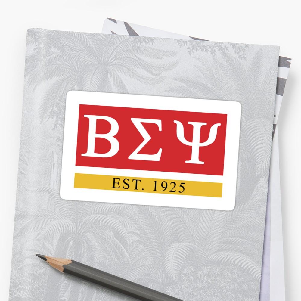 Beta Sigma Psi - Est. 1925 Sticker