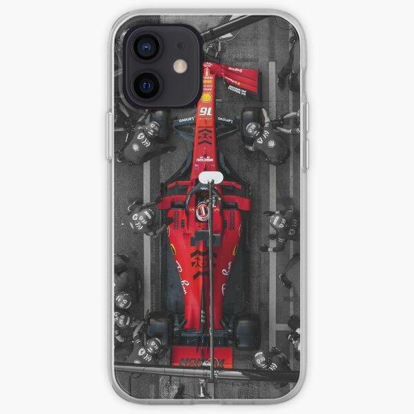 Arrêt au stand Charles Leclerc Ferrari Coque souple iPhone