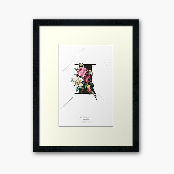 Botanical Alphabet I Gerahmter Kunstdruck