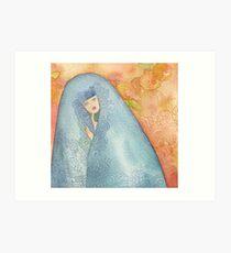 Lighea - Girl with blue veil Art Print