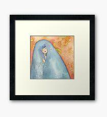Lighea - Girl with blue veil Framed Print