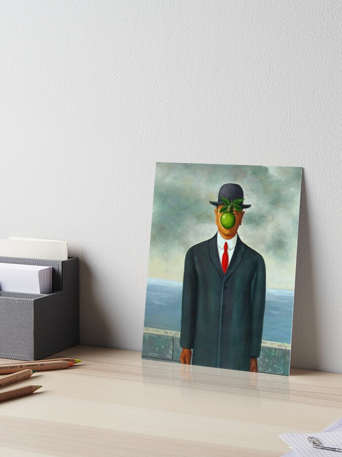 The Son Of Man Painting By Rene Magritte T Shirt Art Board Print By Gentlebiz Redbubble