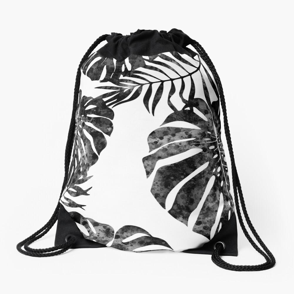 Monstera deliciosa Drawstring Bag