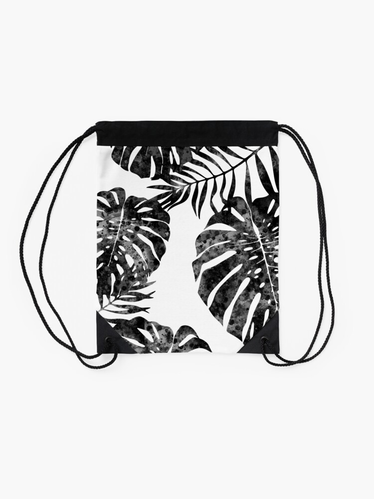 Alternate view of Monstera deliciosa Drawstring Bag