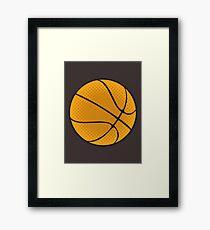 Basketball Vector Framed Print