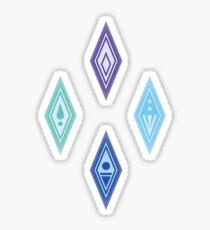 Frozen Crystals Sticker
