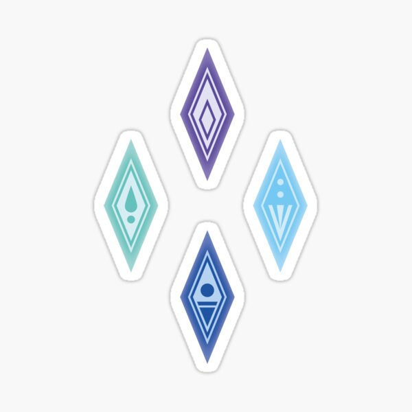 Frozen Crystals Sticker