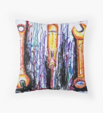 Color Outside the Toolbox Throw Pillow