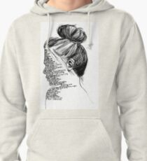 Black and White You Me At Six Lyrics Girl Pullover Hoodie