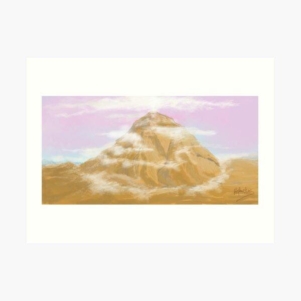 White Plume Mountain, Rendition Art Print