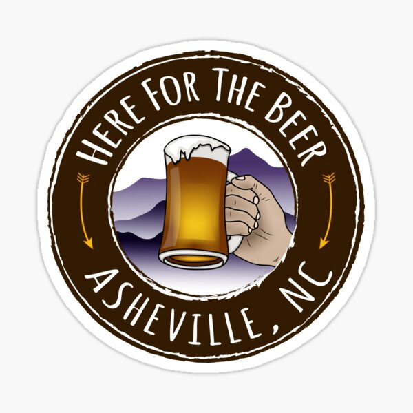 Asheville Beer - Colored Sticker
