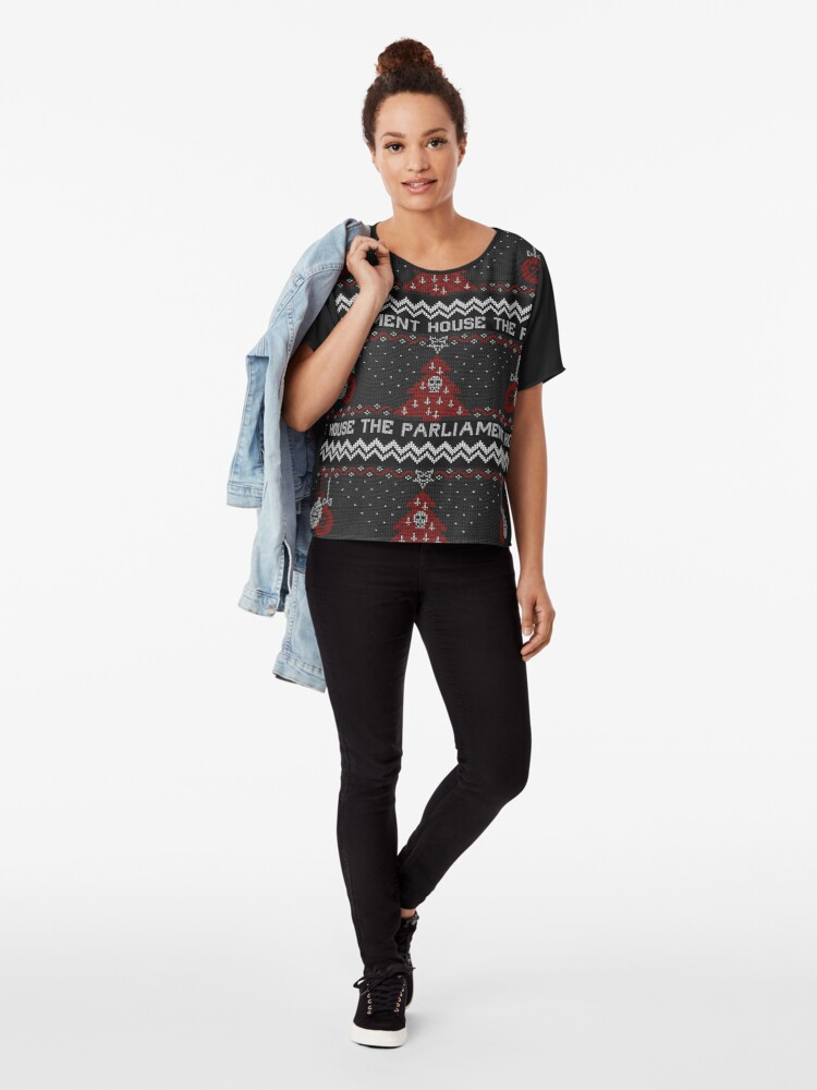 Alternate view of The Parliament House Ugly Sweater  Chiffon Top