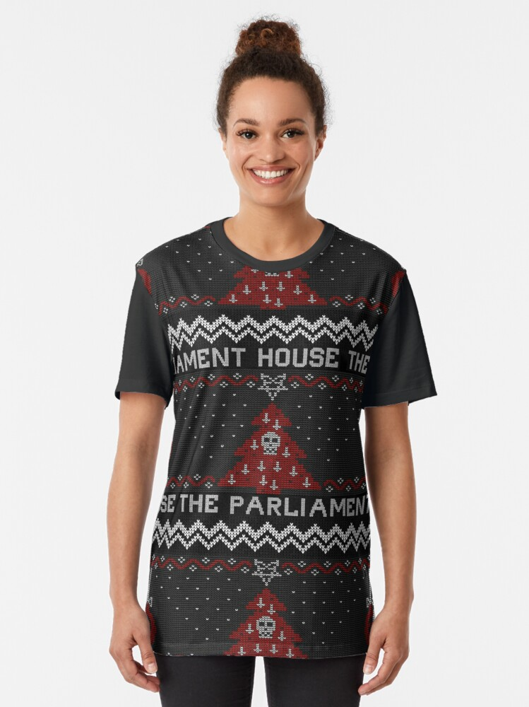 Alternate view of The Parliament House Ugly Sweater  Graphic T-Shirt